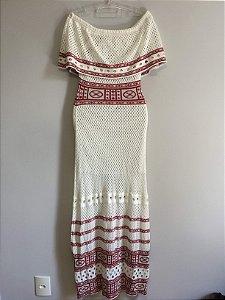 Vestido longo tricot (M)