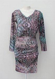 Vestido cores midi franzido (38) - Shoulder