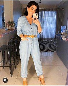 Macacão jeans (G) - C&A