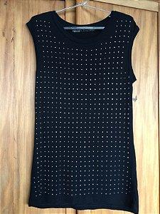 Blusa malha comprida (M) - Zara