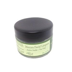 Máscara Facial de Argila Verde e Tea Tree Arte dos Aromas 90gr