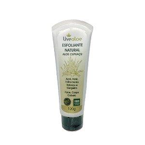 Esfoliante Natural Aloe Cupuaçu Livealoe 120gr