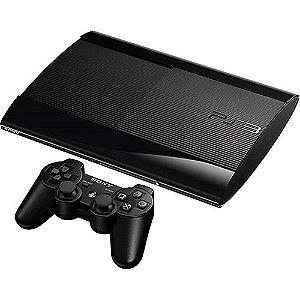 Console PlayStation 3 Slim 250GB + Controle Dual Shock 3 Preto Sem Fio