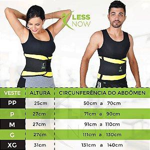 Cinta Térmica Less Now Modela e queima Gordura Amarela e Preto Unisex