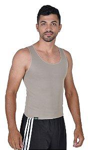 Cinta Masculina Emagrecedora Queima Gordura Less Now T-shirt Bege