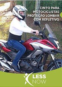 Cinto para Motociclistas Unissex Proteção Lombar com Refletivo 3M