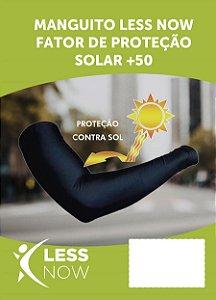 Manga Less Now Poliamida PAR Com Proteção Solar Preto Fps + 50