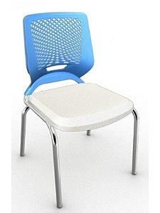 Cadeira Beezi Fixa Cromada