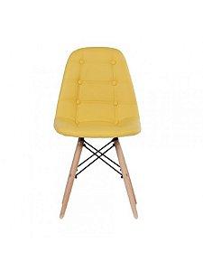 Cadeira Decorativa em Couro Sintético Madrid