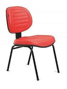 Cadeira Executiva Gomada com Base Fixa 4 Pés