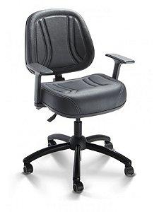 Cadeira Executiva Alta Gomada Giratória com Braço