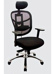 Cadeira Presidente com Encosto em tela W100
