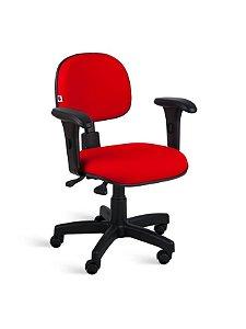 Cadeira Secretária Giratória com Braço e Back-System