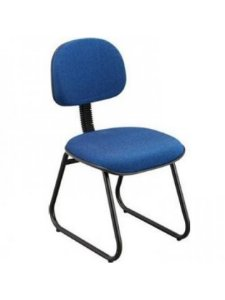 Cadeira Secretária com Espuma Injetada Base Trapézio