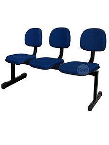 Cadeira Longarina com 3 Lugares Secretária