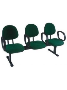 Cadeira Longarina com 3 Lugares Executiva