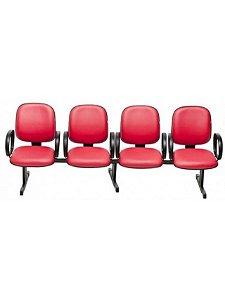 Cadeira Longarina com 4 Lugares Diretor com Braço