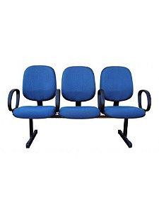Cadeira Longarina 3 Lugares com Braço