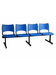 Cadeira Longarina com 4 Lugares Iso