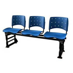 Cadeira Longarina com 3 Lugares sem braço Ergoplax
