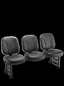 Cadeira Longarina com 3 Lugares Operativa Plaxmetal