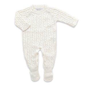 Macacão Saída de Maternidade Trançado Milão - Off White - Unisex