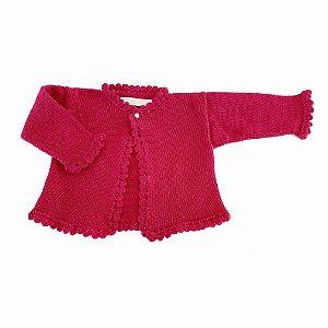Bolero Infantil Tricô Pink - Tam P ao 8
