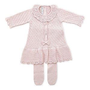 Saída de Maternidade Feminina Vestido Paris Rosa