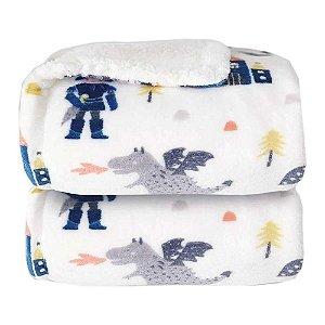 Cobertor para Berço Sherpam Cavaleiro Branco
