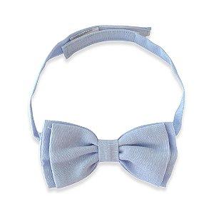 Gravata Borboleta Dupla Azul Claro