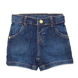 Shorts Jeans Infantil - Tamanho 1 a 3
