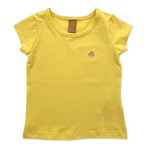 Blusa Infantil Manga Curta Cotton - Amarela - Tam 1 a 3