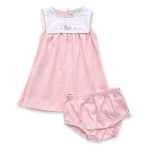 Vestido Baby - Algodão Egípcio Rosa - Tam P a GG