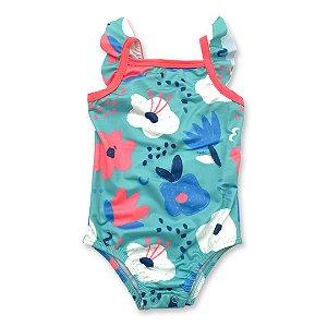 Maio para Bebê Proteção UV - Estampa Floral