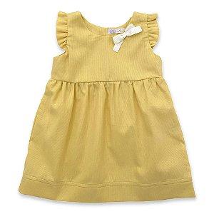 Vestido Infantil Margarida Amarelo - Tam M a 8