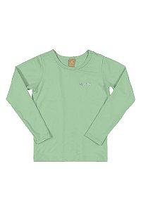 Blusa Infantil Manga Longa com proteção UV - Verde
