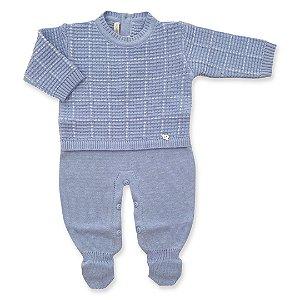 Macacão Saída de Maternidade Viena Azul Claro