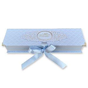 Caixa Tesouros do Bebê - Matelassê Azul