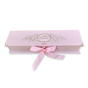 Caixa Tesouros do Bebê - Matelassê Rosa