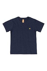 Camiseta Infantil Lisa - Manga Curta - Azul Marinho