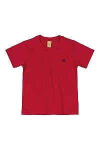 Camiseta Infantil Lisa - Manga Curta - Vermelha