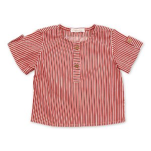 Bata Infantil Menino - Listras Vermelhas