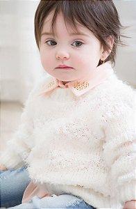 Malha Infantil Fio Peludo Off White