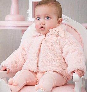Casaco de Pelos Bebê - Tamanho M e 2
