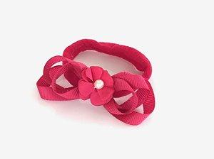 Faixa Meia de Seda Flor Pink Roana