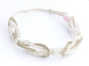 Headband Luxo com Pérolas e Strass Roana
