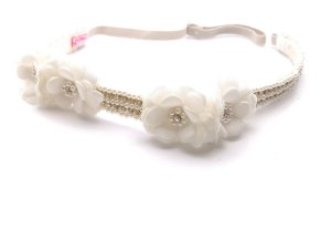 Headband Luxo com Flores em Tecido Roana