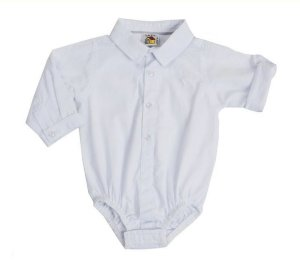 Body Camisa Manga Longa Branco