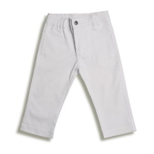 Calça Social Infantil Sarja Branca - Tam P a 3