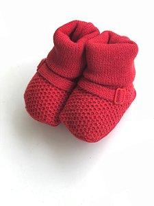 Botinha de Tricô Vermelha